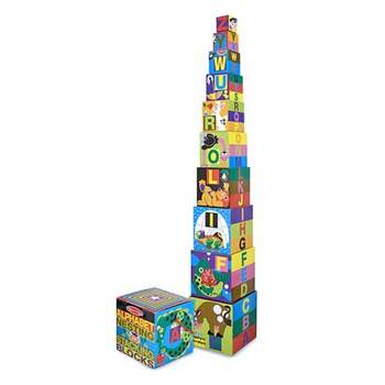 Melissa & Doug, Nesting & Stacking Alphabet Blocks, Ages 2 to 4 Years Old, 10 Pieces