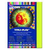 Tru-Ray® Sulphite Construction Paper, 9 x 12 inches, Brilliant Lime, 50 Sheets