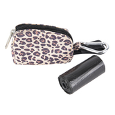 Dog Waste Bag Pouch, Leopard Print, 3 1/2 x 1 3/4 x 2 1/2 inches