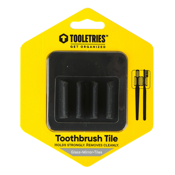 Tooletries, George Toothbrush Holder, Silicone, Charcoal, 2 3/4 x 2 3/4 inches