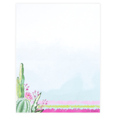 Renewing Minds, Cactus Letterhead, 8.5 x 11 Inches, Multi-Colored, 50 Sheets