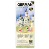 Bilingual Books, GERMAN Language Map, Quick Reference Guide, Laminated and Folded