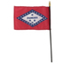 Annin Flagmakers, Arkansas State Flag with Rod, 4 x 6 Inches, Multi-Colored, 2 Pieces