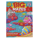 School Zone, Big Mazes and More Workbook, Paperback, 320 Pages, Ages 6-8