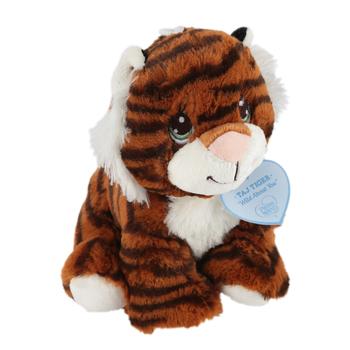 Precious Moments, Taj Tiger Plush Toy, Polyester Fibers, Brown, 9 inches