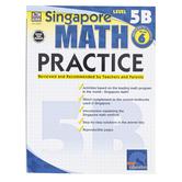 Carson-Dellosa, Singapore Math Practice 5B Workbook, Reproducible Paperback, 128 Pages, Grade 6