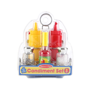 Melissa & Doug, Condiments Set, Ages 3 to 5 Years Old, 6 Pieces