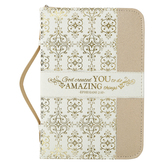 Divinity Boutique, Ephesians 2:10 Amazing Things Bible Cover, Gold, Multiple Sizes Available