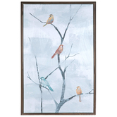 Birds on Barren Tree Framed Wall Decor, MDF, Brown and Gray, 20 x 30 x 1 7/8 inches