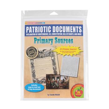 Gallopade, Patriotic Documents Primary Sources Series, Grades 1-6, 8.5 x 11 Inches, 20 Pieces