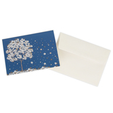 Peter Pauper Press, Inc., Falling Blossoms Note Cards, Blue and White, 14 Cards with Envelopes