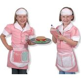 Melissa & Doug, Waitress Costume Set, Ages 3 to 6 Years Old, 6 Pieces
