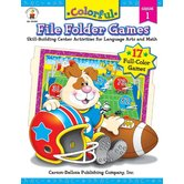 Colorful File Folder Games: Skill Building Center Activities for Language Arts and Math