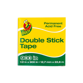 Duck Tape,  Permanent Double-Stick Tape Refill, 1/2 x 900 Inches, Clear, 1 Roll