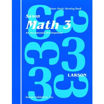 Saxon Math 3 Student Meeting Book