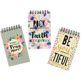 Playside Creations, Tweens Lined Religious Mini Spiral Notebooks, Girls, 3 Assorted, Grades 3-8