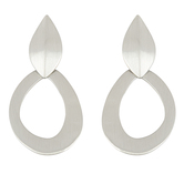 Mercy Adorned, Proverbs 4:26-27 Circle Hoop Dangle Earrings, Zinc Alloy, Brushed Silver
