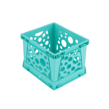 Storex, Micro Crate, Teal, 5.80 x 6.75 x 4.80 Inches, 1 Piece