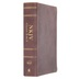 NKJV Full Color Study Bible, Premium Calfskin Leather, Brown, Thumb Indexed