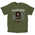 Red Letter 9, Matthew 5:9 Peacemakers Army, Men's Short Sleeved T-Shirt, Military Green, 2X-Large