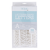 DCWV, Letterboard Letters, Plastic, White, 1 inch, 188 Letters