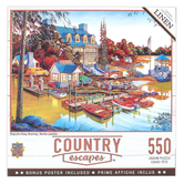 MasterPieces, Country Escapes-Peaceful Easy Evening Jigsaw Puzzle, 550 Pieces, 24 x 18 inches