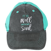 Kerusso, It Is Well With My Soul Cap, Gray, One Size