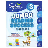 Sylvan Learning, 3rd Grade Jumbo Reading Success Workbook, Paperback, 310 Pages, Grade 3