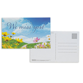 Broadman Church Supplies, We Miss You Postcards, 5 1/2 x 3 1/2 inches, Set of 25