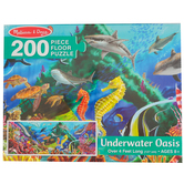 Melissa & Doug, Underwater Oasis Floor Puzzle, 200 Pieces, 50 x 18 inches, Ages 8 Years and Older