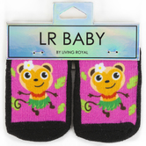 Living Royal, LR Baby, Hula Monkey, Baby Socks, Black, 1 Pair, Ages 0-6 Months, One Size Fits Most