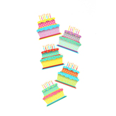 Renewing Minds, Birthday Cakes Mini Cutouts, Assorted Designs, 3 inches,36 Pieces