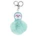 Tick Tock, Sloth Pom Pom Key Chain, Mint, 2 3/4 x 7 inches