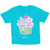 Kerusso, Isaiah 26:4, I Run on Jesus & Cupcakes, Kid's Short Sleeve T-Shirt, Turquoise