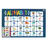 The Brainery, Alphabet Learning Mat, Plastic, 11 1/2 x 17 1/2 Inches, Ages 4 and up