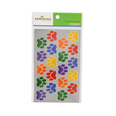 Renewing Minds, Colorful Paw Print Stickers, Assorted Colors, Pack of 100
