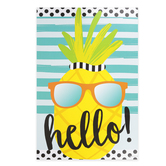 Schoolgirl Style, Simply Stylish Tropical Hello Motivational Poster, 13.38 x 19 Inches, 1 Piece