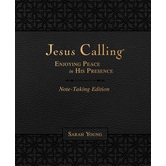 Jesus Calling Note-Taking Edition, by Sarah Young, Imitation Leather, Dark Brown