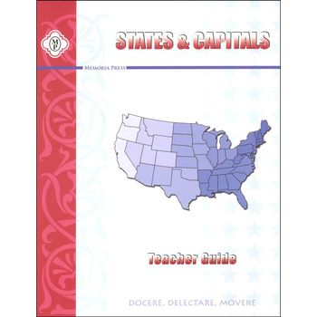 Memoria Press, States and Capitals, Teacher Guide, Paperback, 117 Pages, Grades 3-6