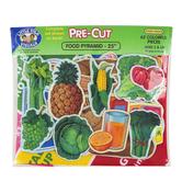 Little Folk Visuals, Food Pyramid Pre-Cut Felt Set, 25 Inches, 63 Pieces
