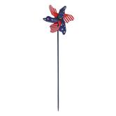 Brother Sister Design Studio, Patriotic Pinwheel, Plastic, 10 3/8 x 3 inches