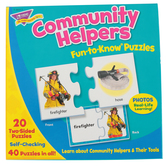 TREND enterprises, Inc., Community Helpers Fun-to-Know Puzzles, 40 Pieces, Ages 3+