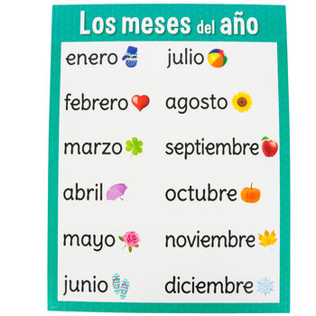 Creative Teaching Press, Los Meses Del Ano Chart, Spanish, Months of the Year, 17 x 22-Inch