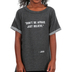 NOTW, Don't Be Afraid Just Believe, Kid's Cuffed Short Sleeve Shirt, Dark Grey, X-Small
