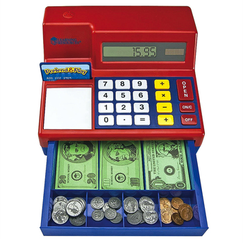 Learning Resources, Calculator Cash Register, Ages 3 Years and Older, 10 x 9 x 5.5 Inches, 72 Pieces