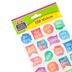 Teacher Created Resources, Watercolor Motivational Stickers, Shaped, Multi-Colored, Pack of 120