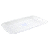 Innovative Designs, Clear Plastic Crystal Cut Serving Platter, Rectangle, 16.13 x 10.63 Inches, 1 Each