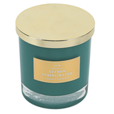 Winfield Home Decor, Citron Springwater Jar Candle, Green, 9 ounces, 3 3/4 x 3 3/4 x 4 inches