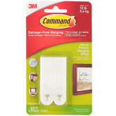 Command, Medium Picture Hanging Foam Strips, White, 4 pack