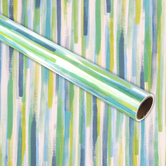 Brother Sister Design Studio, Gift Wrap Roll, Watercolor Stripes, 50 square feet